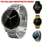NEW Stainless Steel Watch Band Samsung Gear 2 Neo LG G Pebble Black Silver Gold