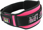 "Weight Lifting Belts Gym Fitness Back Support Training 5"" Wide Belt Pink Color"