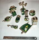 HAND PAINTED ROSES UK MADE SET 11 MINIATURES BARGE CANAL NARROW BOAT CANALWARE C