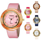 Fashion Ladies Women Girl Cuff Bracelet PU Leather band Quartz Wrist Watch New