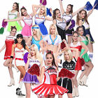 Karneval Fasching Cheerleading Cheer Leader Kostüm Cheerleader Uniform GOGO Girl