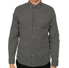 NEW Marc Jacobs Mens Shield Print Black White Cotton LongSleeve Shirt S M L $188