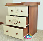 CHEST OF DRAWERS FOR BABY   BOARD FOR CHANGING BABY MIKI in 2 COLOURS
