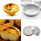 7cm Tart Mould Aluminium Pudding Egg Cake Cookie Baking Mold Pan Tins  20/50pcs