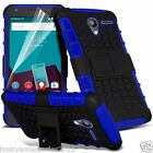 Anti Shock Proof Dual Layer Kick Stand Builder Case✔Vodafone Smart Speed 6