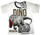 JURASSIC WORLD kids short sleeve white cotton t-shirt Size S-XL 4-9y Free Ship