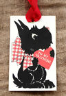 Hang Tags  TO MY VALENTINE BLACK SCOTTIE VALENTINE TAGS #17  Gift Tags