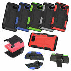 Samsung Galxy Note 5 N920 Hybrid Armor Case Stand Belt Clip Holster FX