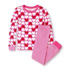 TCP GIRLS' 2PC VALENTINE'S DAY COTTON L/S PAJAMAS SET HEARTS JAMMIES GYMMIES 4 6