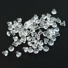 LOT Silicone Rubber 3mm Earring Back Stoppers Plugs Ear Post Nuts Findings Diy