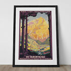 Vintage Art Deco Giclee Poster Print FRENCH ALPS TRAVEL High Quality Frame Ready