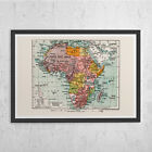 VINTAGE AFRICA MAP - Vintage Map of Africa - Retro Historical African Map  Vinta