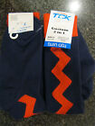 Twin City Knitting Over-Calf Footed Socks Lightning  Navy Red RZZ10 Medium