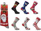"3 Ladies Christmas Festive Xmas ""Socks From Santa"" Novelty Fun Socks UK 4-8"