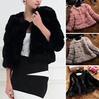 2017 New Style Women's Overcoat Garment 100%Real Rabbit Fur Short Coat Jacket