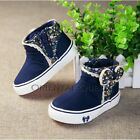 NEW Children Kids Girl Blue Floral Sports Sneakers Casual Shoes Boots
