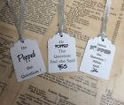 Personalised He Popped the Question Engagement  Favour Tags x 12 ,40,50, 100