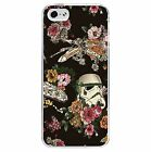 Star Wars Floral PHONE CASE COVER (Fits iPhone 4s 5c 5 5s 6 6+) Stormtrooper, used for sale  Rochford