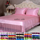 16 Momme 100% Pure Silk Ruffled Fitted & Flat Sheet Pillowcase Set Size King