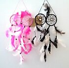 Dream Catcher - Owl Eyes Design - Purple/Green/Pink/Cream -