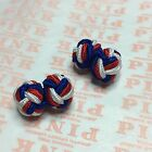 Silk Knot Cufflinks MENS WOMENS Elastic ROUND KNOT Dress Shirt Ball Cuff Links