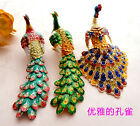 Charming Chinese Handmade Cloisonne Enamel Cute Peacock Ornaments Charms