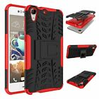 HTC Desire 728 Dual Layer Shockproof Cover Hybrid Rugged Case with Kickstand