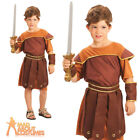 Child Roman Soldier Costume Boy Gladiator Warrior Book Week Day Fancy Dress Kids