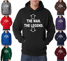 The Man The Legend Tee Funny Humor Retro Swag 50/50 Pullover Hoodie S-3XL