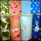 Cosy plain / pattern air force blue, pink & android green  polar fleece blankets