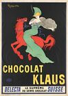 VINTAGE CHOCOLAT KLAUS FOOD ADVERT POSTER PICTURE PRINT Size A5 to A0 **NEW**