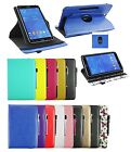 Universal Stylish (7 /8 inch) 360° Rotating Wallet Case Cover + Stylus Pen