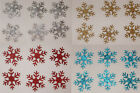 GLITTER 1inch SNOWFLAKE iron-on CHRISTMAS garment bling TSHIRT TRANSFER PATCH