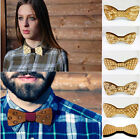 2015 New Fashion Creative Wood tie Fun Move Men Leisure Wooden Bowtie Butterfly