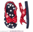 Gymboree NWT Red PATRIOTIC STARS BOW FLIP FLOPS WATER SANDALS SHOES US 5 6 7 8