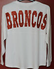 "DENVER BRONCOS WHITE ""OVERSIZED"" GAME DAY JERSEY FOR THE LADIES & ORANGE BLING!"