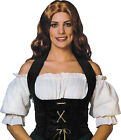 Adult Fancy Dress Party Accessory Pirates Bar Maid Womens Velvet Corset Only UK