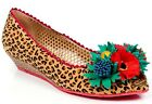 POETIC LICENCE FLOWER BOMB PEEP TOE LEOPARD PRINT HESSIAN FABRIC WOVEN LOW WEDGE