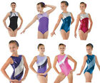Metallic Lycra Shine Girls Gymnastics Sleeveless Leotard Gym Dancewear Age 4-12 ...