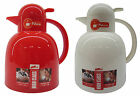 1.0L NEW COFFEE TEA POT VACUUM JUG FLASK THERMOS HOT OR COLD WHITE RED INSULATED