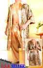 NEW SEXY SATIN SILK LEOPARD ROBE PAJAMAS SET/NIGHT GOWN DRESS FOR MEN or WOMEN