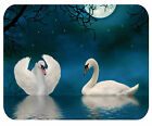 CUSTOM GLASS CUTTING BOARD PERSONALIZED-2 SIZES-TWO SWANS-ADD ANY TEXT