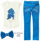 NWT Gymboree SEASIDE STROLL Girls Size 7 8 Skinny Pants Tee Top Bow 3-PC OUTFIT