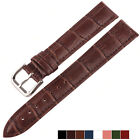 Croco Alligator Grain Genuine Leather Wristwatch Band Watch Strap Black Brown