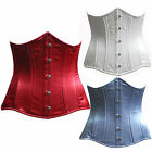 Satin duble Steel Boned Corset Underbust corset Tight Lacing 3 layers 3 Colours