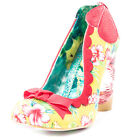 Irregular Choice Delightfully Floral Womens Fabric Red Yellow Heels New Shoes