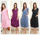 Meryl Short Sleeve Large Night-dresses Women's Nightwear Nightshirt Sleepwear