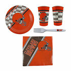 NFL Team Disposable 20 Pack Paper Plates Cups Napkins Forks Party Supply Set