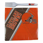 NFL Team Disposable 20 pack Paper Napkins with 24 pack Plastic Fork Party Supply