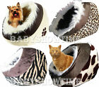 Pet Bed Cave Pyramid Hooded Igloo Snuggle Bed House for Small Dog Cat Kitten